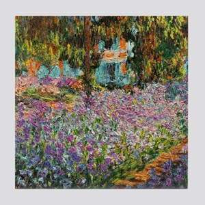 Irises In Monet's Garden Tile Coaster