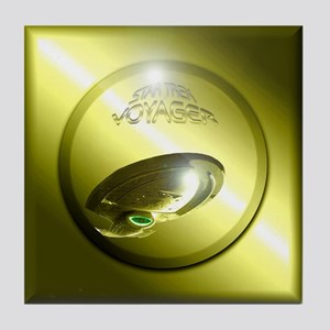 Gold Star Trek Voyager Tile Coaster