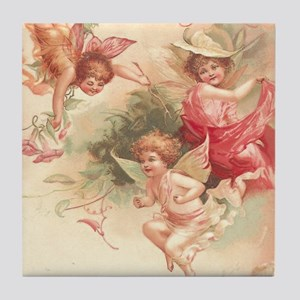 Cupid Angel 3 Tile Coaster