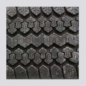 Tire Tracks Tile Coaster