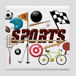 Sports Collage Tile Coaster