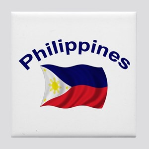 Philippines Flag Tile Coaster