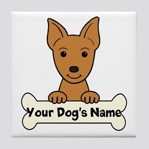 Personalized Min Pin Tile Coaster