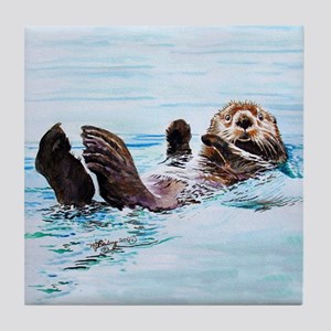 Sea Otter Tile Coaster