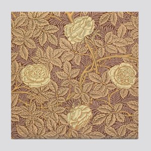 William Morris Rose Tile Coaster