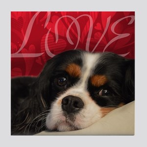 Cavalier King charles Spaniel Love Tile Coaster
