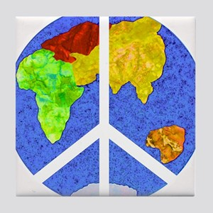 peaceworldornament Tile Coaster