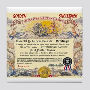 GOLDEN SHELLBACK Tile Coaster