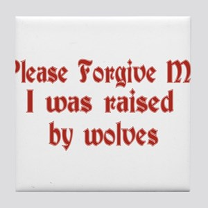 Raised by Wolves Tile Coaster