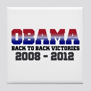 Obama Back to Back Victory Tile Coaster