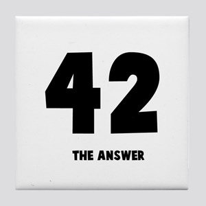 42 the answer to the question Tile Coaster