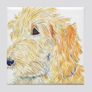 Cream Labradoodle 1 Tile Coaster