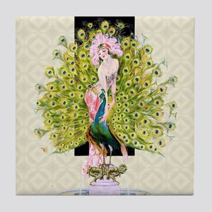 Leyendecker Art Deco Rivals Tile Coaster