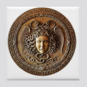 Medusa Greek mythology art Tile Coaster