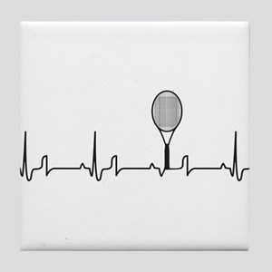 Tennis Heartbeat Tile Coaster
