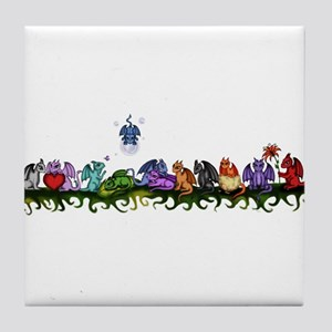 many cute Dragons Tile Coaster