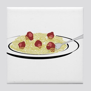 Spaghetti Dinner Tile Coaster