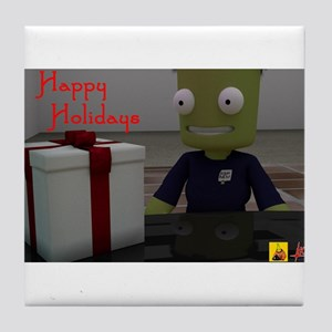Kerbal Christmas Gift Tile Coaster