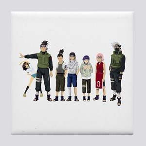 Anime characters Tile Coaster