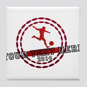 Personalized Sport Tag Tile Coaster