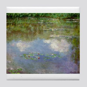 Water Lillies (The Clouds) Tile Coaster