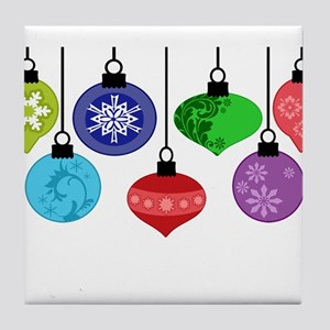 Christmas Ornaments Tile Coaster