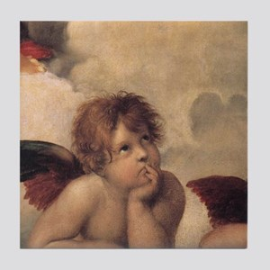 Raphael angels Tile Coaster