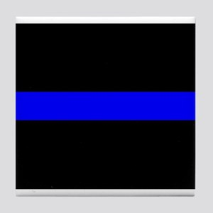 Thin Blue Line Tile Coaster
