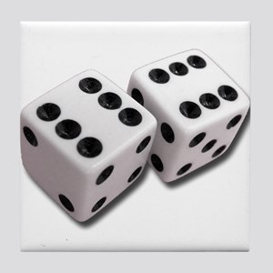 Lucky Dice Tile Coaster