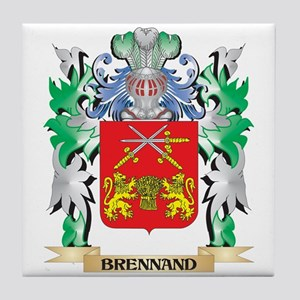 Brennand Coat of Arms - Family Crest Tile Coaster