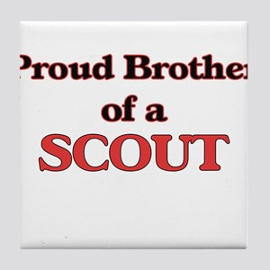 Proud Brother of a Scout Tile Coaster