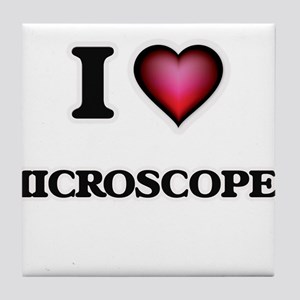 I Love Microscopes Tile Coaster