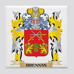 Brennan Coat of Arms - Family Crest Tile Coaster