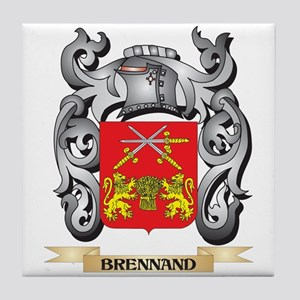Brennand Family Crest - Brennand Coat Tile Coaster