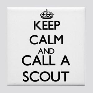 Keep calm and call a Scout Tile Coaster
