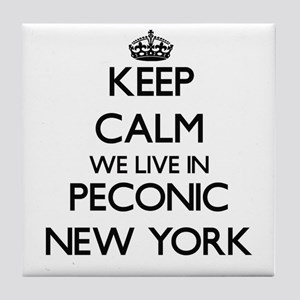 Keep calm we live in Peconic New York Tile Coaster