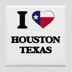 I love Houston Texas Tile Coaster
