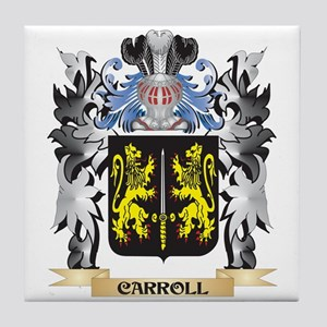 Carroll Coat of Arms - Family Crest Tile Coaster