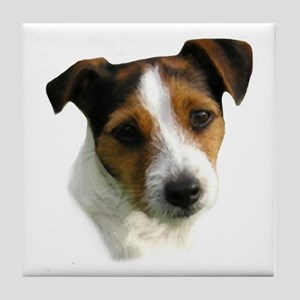Jack Russell Watercolor Tile Coaster