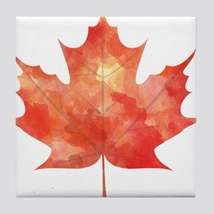Maple Leaf Art Tile Coaster