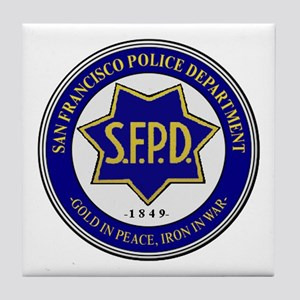 San Francisco Police Tile Coaster
