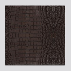 Gator Brown Leather Tile Coaster