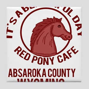 Red Pony Cafe Tile Coaster