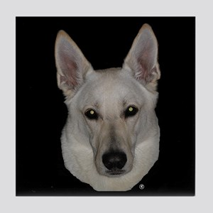White German Shepherd Tile Coaster
