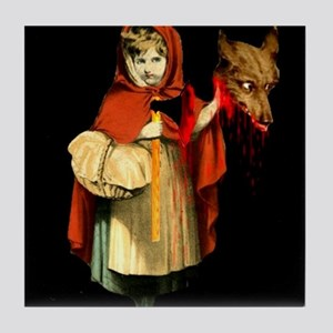 Little Red Riding Hood Gets Revenge Tile Coaster