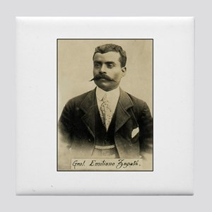 General Emiliano Zapata Tile Coaster