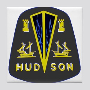 Dark Hudson Logo Tile Coaster
