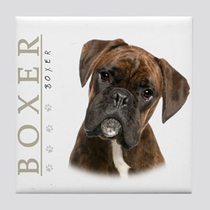 Brindle Boxer Tile Coaster