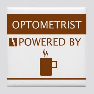 Optometrist Powered by Coffee Tile Coaster