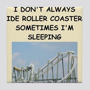 roller,coaster,amusement,park, Tile Coaster
